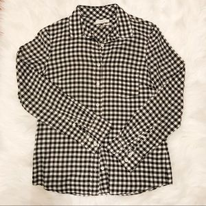 J. CREW GINGHAM BUTTON UP